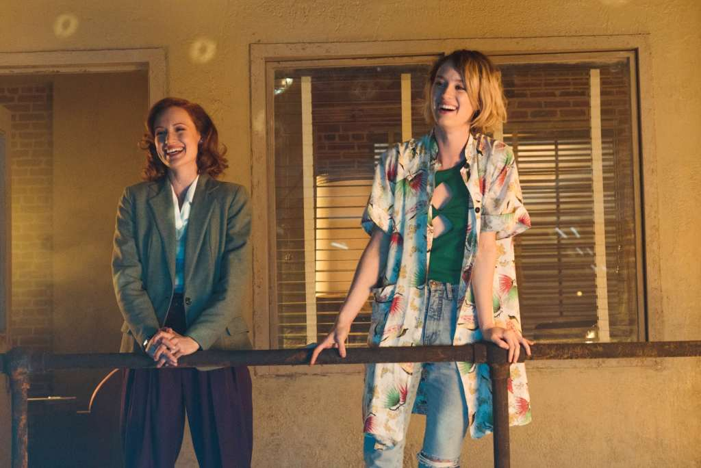 Mackenzie Davis as Cameron Howe, Kerry Bishé as Donna Clark - Halt and Catch Fire _ Season 3, Episode 1 - Photo Credit: Tina Rowden/AMC